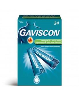 GAVISCON*24 bust orale sosp 500 mg/10 ml + 267 mg/10 ml