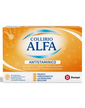 COLLIRIO ALFA ANTISTAMINICO*10 monod collirio 0,8 mg/ ml + 1 mg/ml 0,3 ml